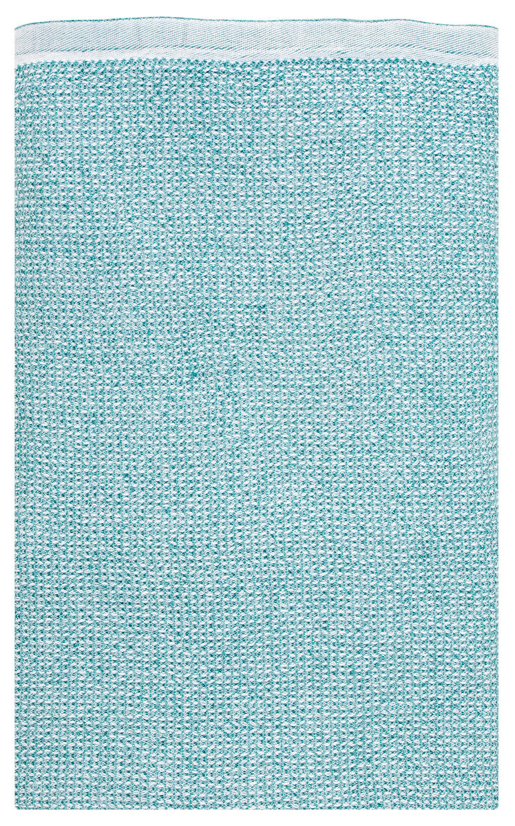 Terva towel 48 x 70cm 56/white-turquoise washed linen-tencel-cotton - Chinese homewares- Rouge Shop antique stores London - city furniture