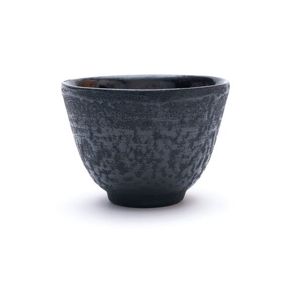 Black Textured Cast Iron Teacup - Chinese homewares- Rouge Shop antique stores London - city furniture