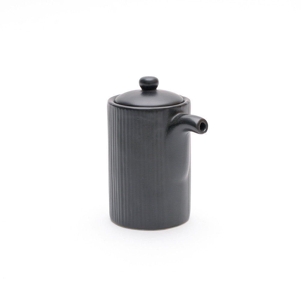Black Satin Glaze Soya Pot