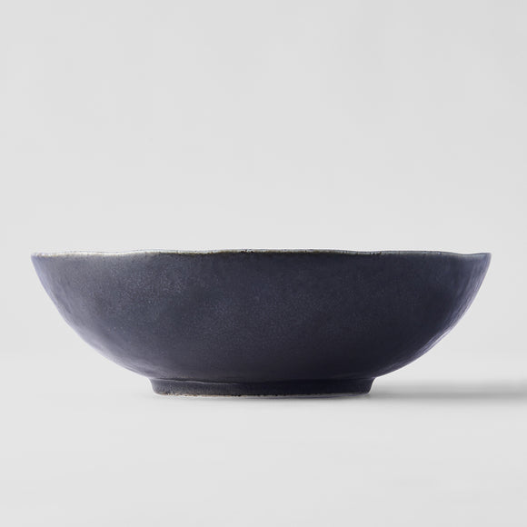 Black oval bowl