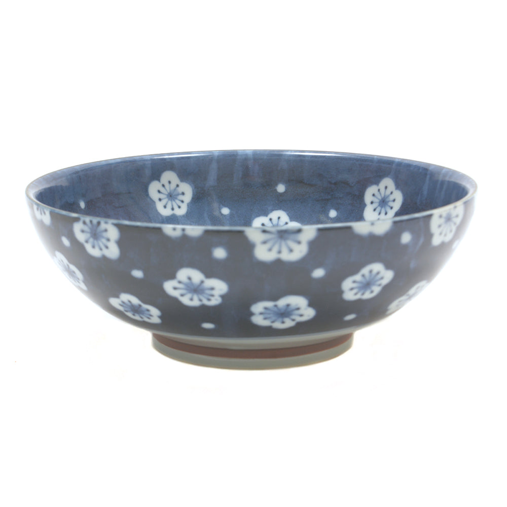 Blue Floral Pattern Japanese Serving Bowl - Chinese homewares- Rouge Shop antique stores London - city furniture
