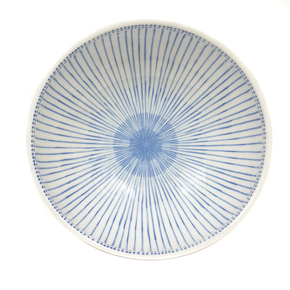 Blue Spoked Pattern Japanese Serving Bowl - Chinese homewares- Rouge Shop antique stores London - city furniture