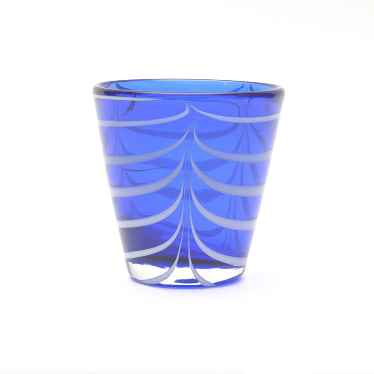 Mid Blue and White Twist Glass - Chinese homewares- Rouge Shop antique stores London - city furniture
