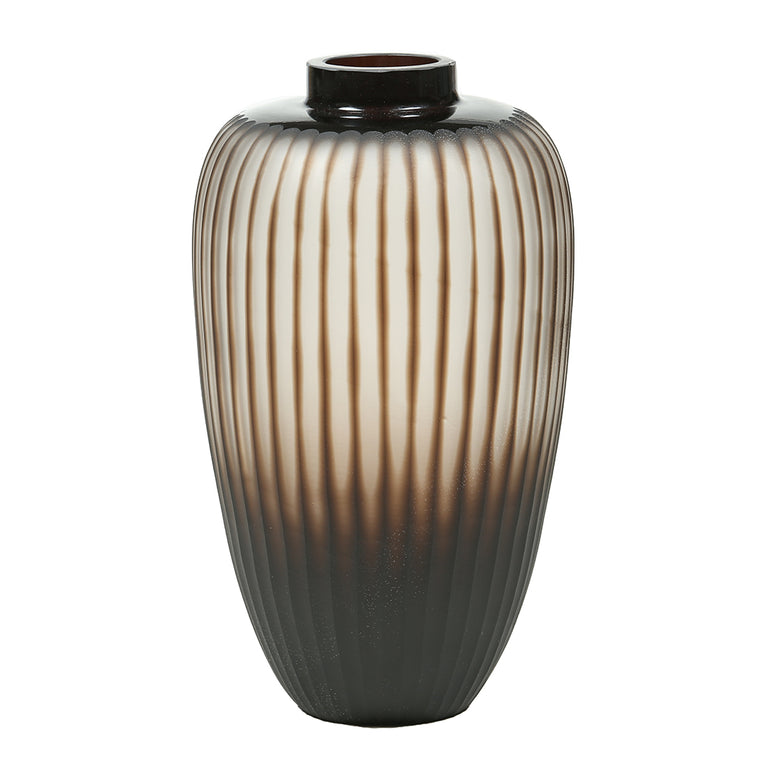 Brown Scalloped Glass Vase – Large - Chinese homewares- Rouge Shop antique stores London - city furniture