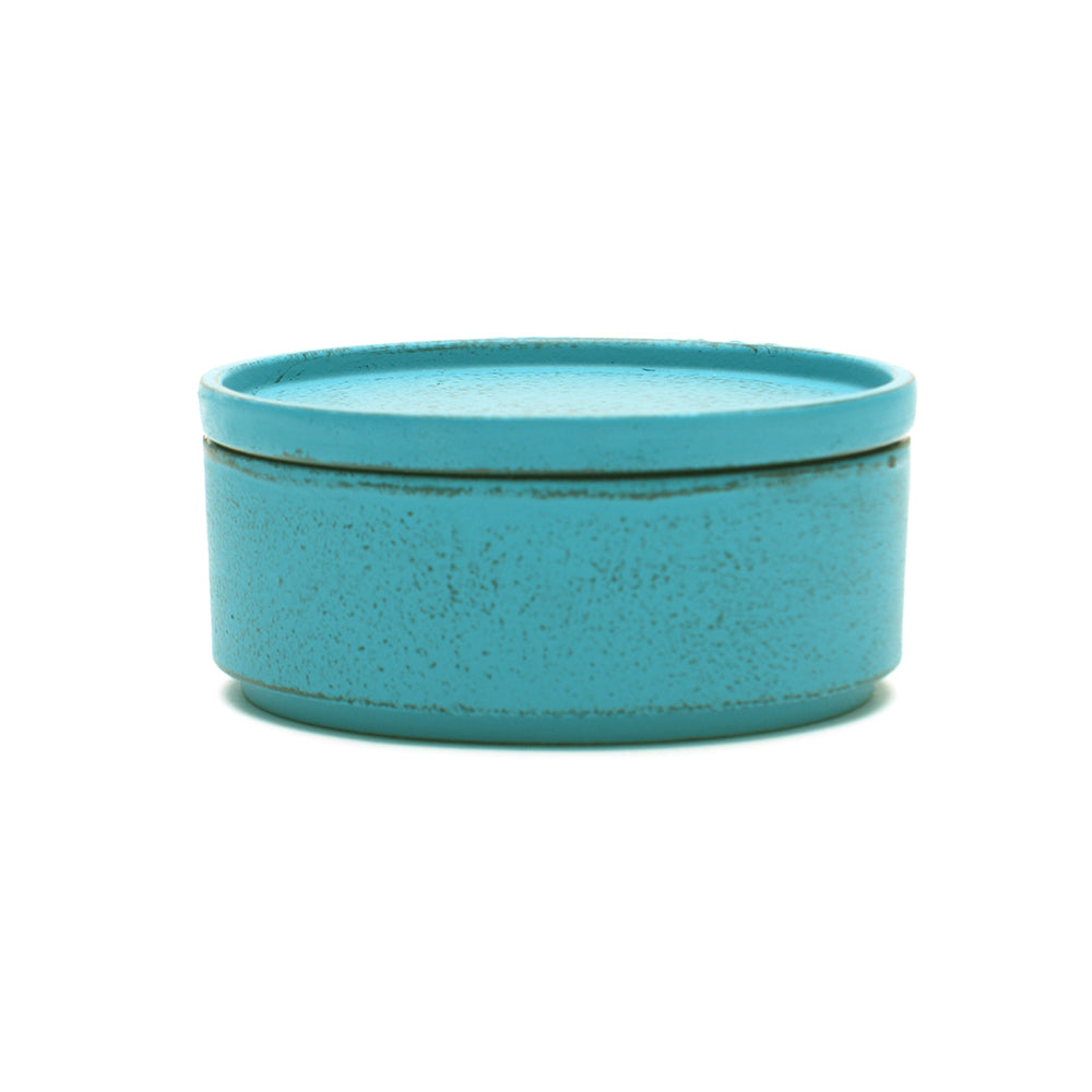 Blue Cast Iron Tea Caddy - Chinese homewares- Rouge Shop antique stores London - city furniture