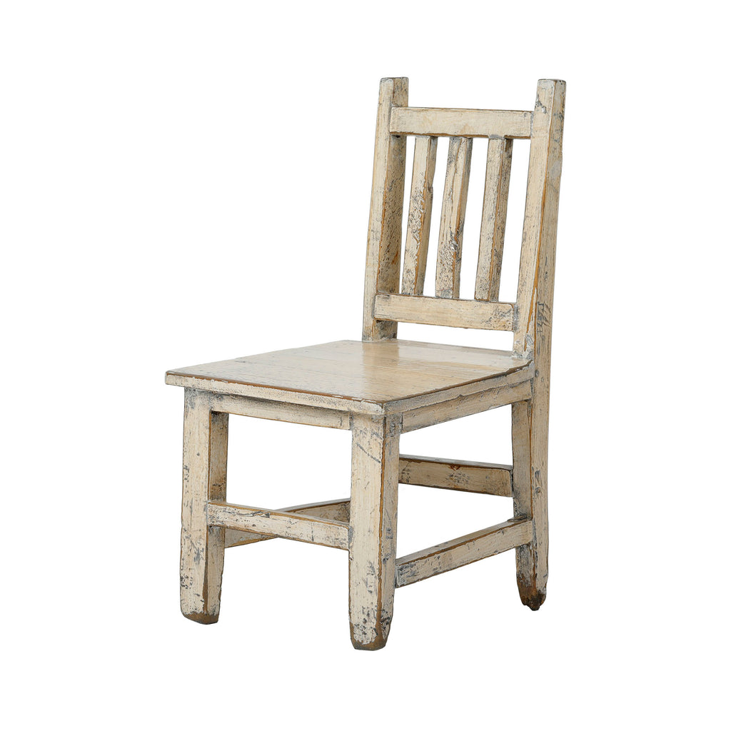 White Vintage Chinese Child's Chair 02