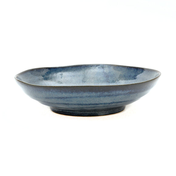 Cobalt Blue Porcelain Oval Noodle Bowl - Chinese homewares- Rouge Shop antique stores London - city furniture