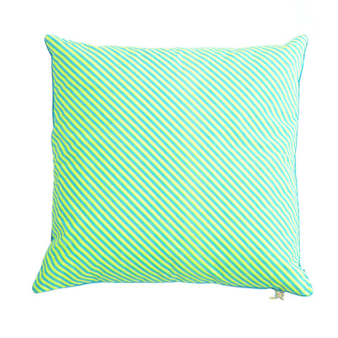 Cotton Velvet Cushion in Green and Turqoise - Asian Inspired Furniture Accessories Cermaics - Rouge Shop