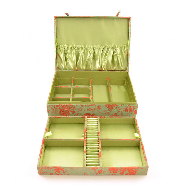 Fabric Covered Jewellery Box – Large - Chinese homewares- Rouge Shop antique stores London - city furniture