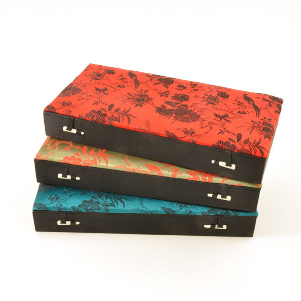 Fabric Covered Jewellery Box – Medium - Chinese homewares- Rouge Shop antique stores London - city furniture