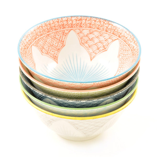 Porcelain Rice Bowls Tayo Lotus all colour combinations