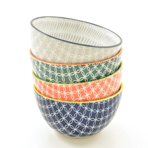 Link Pattern Rice Bowls all colours