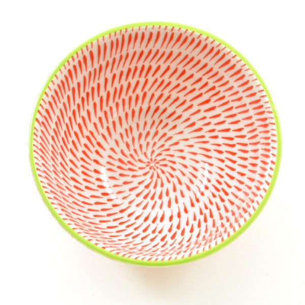 Coral Link Pattern Rice Bowl from above