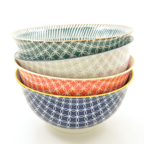 Link Pattern Noodle Bowls all colours