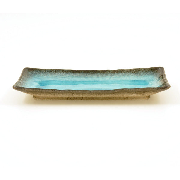 Turquoise Crackle Glass Glaze Plate - Chinese homewares- Rouge Shop antique stores London - city furniture