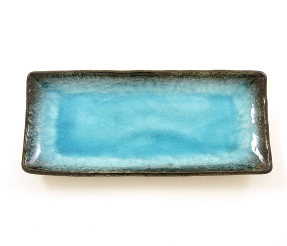 Turquoise Crackle Glaze Plate - Chinese homewares- Rouge Shop antique stores London - city furniture