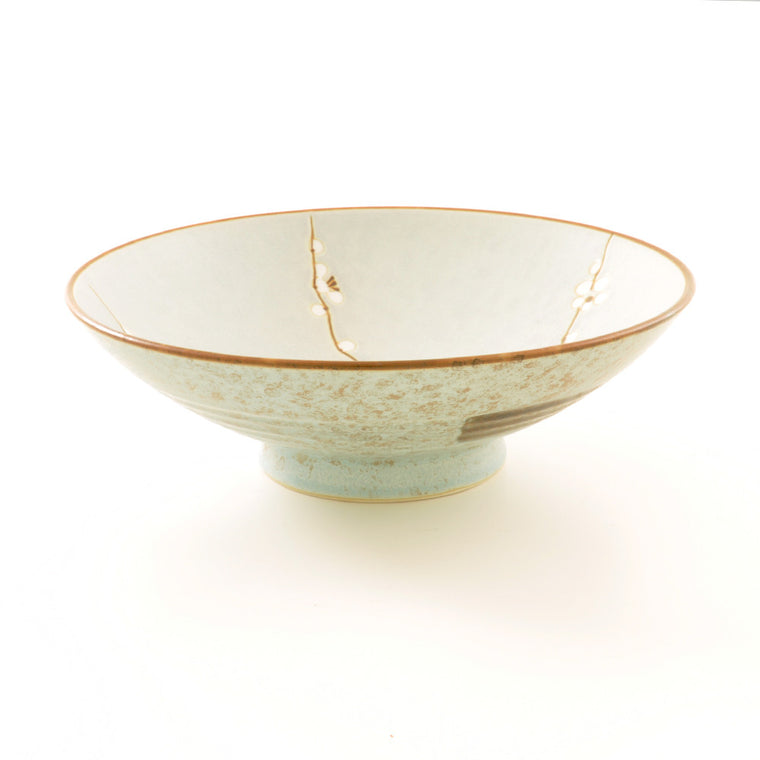 Stoneware Plum Blossom Serving Bowl