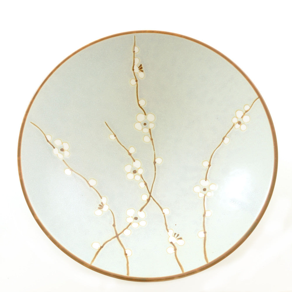 Stoneware Plum Blossom Serving Bowl from above