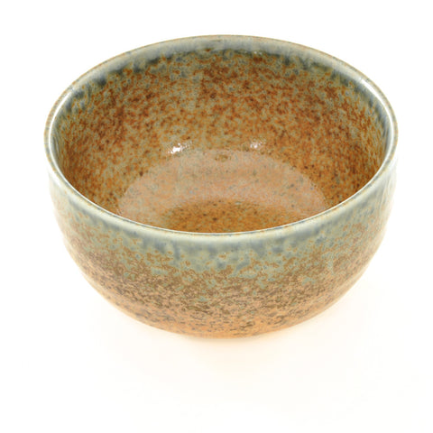 Rust and Blue Glaze Rice Bowl