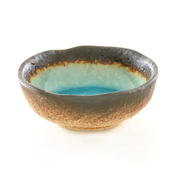 Turquoise Crackle Glass Glaze Dish – Small - Chinese homewares- Rouge Shop antique stores London - city furniture