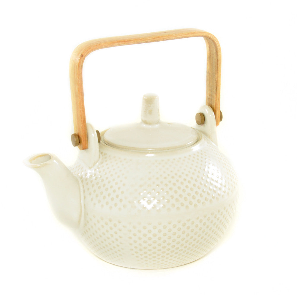 White Textured Teapot