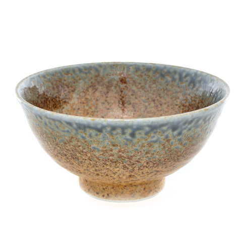 Rust and Blue Glaze Soup Bowl