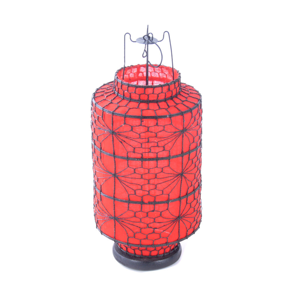 Fabric Covered Tealight Lantern - Chinese Inspired Furniture Accessories Ceramics - Rouge Shop