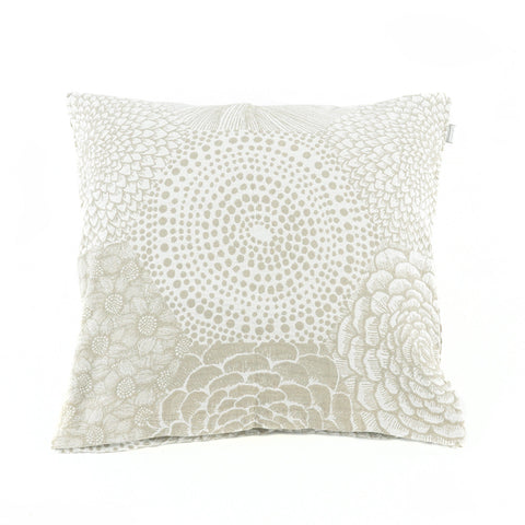 Linen-Cotton Monochrome Floral Cushion - Asian Inspired Furniture Accessories Cermaics - Rouge Shop