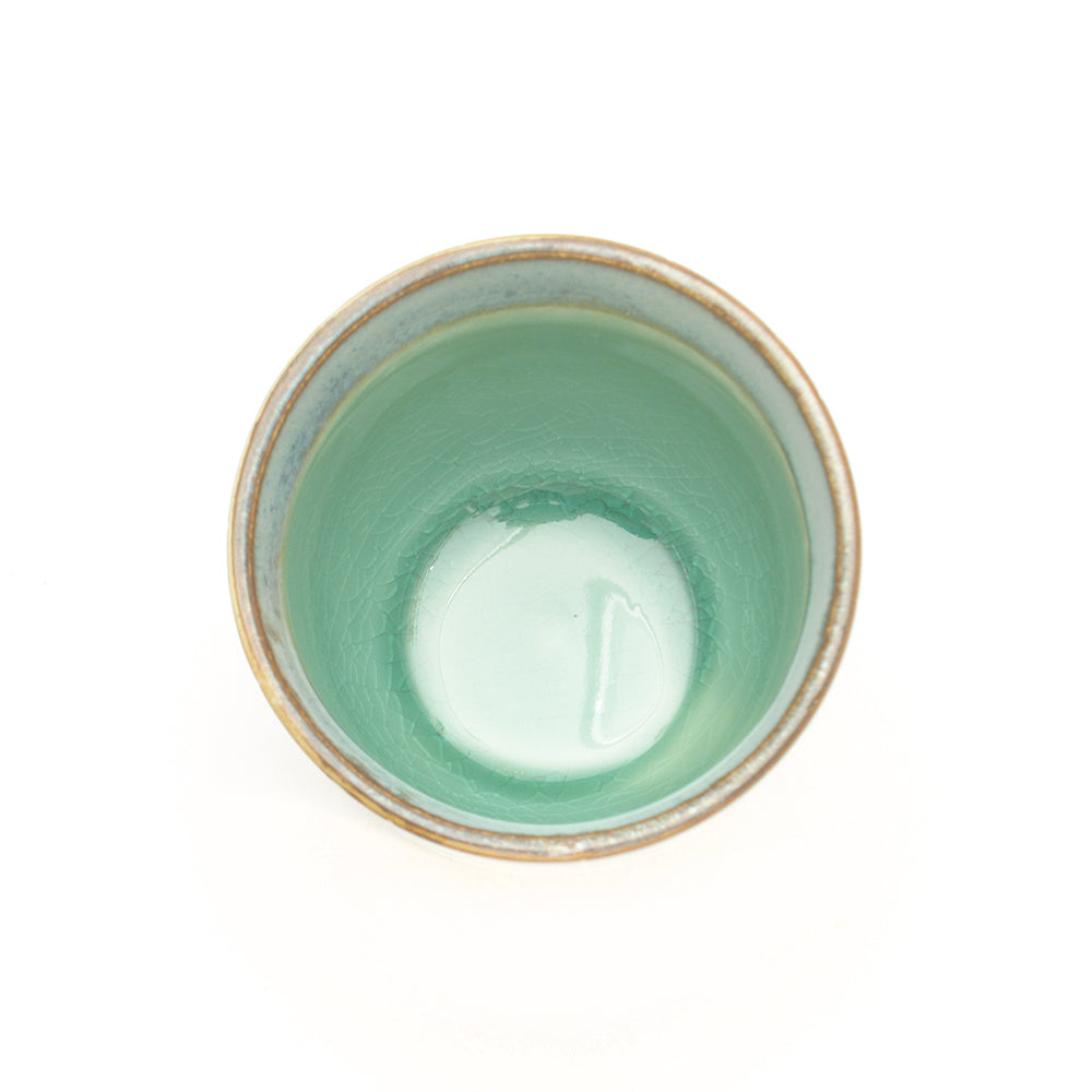 Dakara Ceramic Teacup with Green Crackle Glaze - Chinese homewares- Rouge Shop antique stores London - city furniture