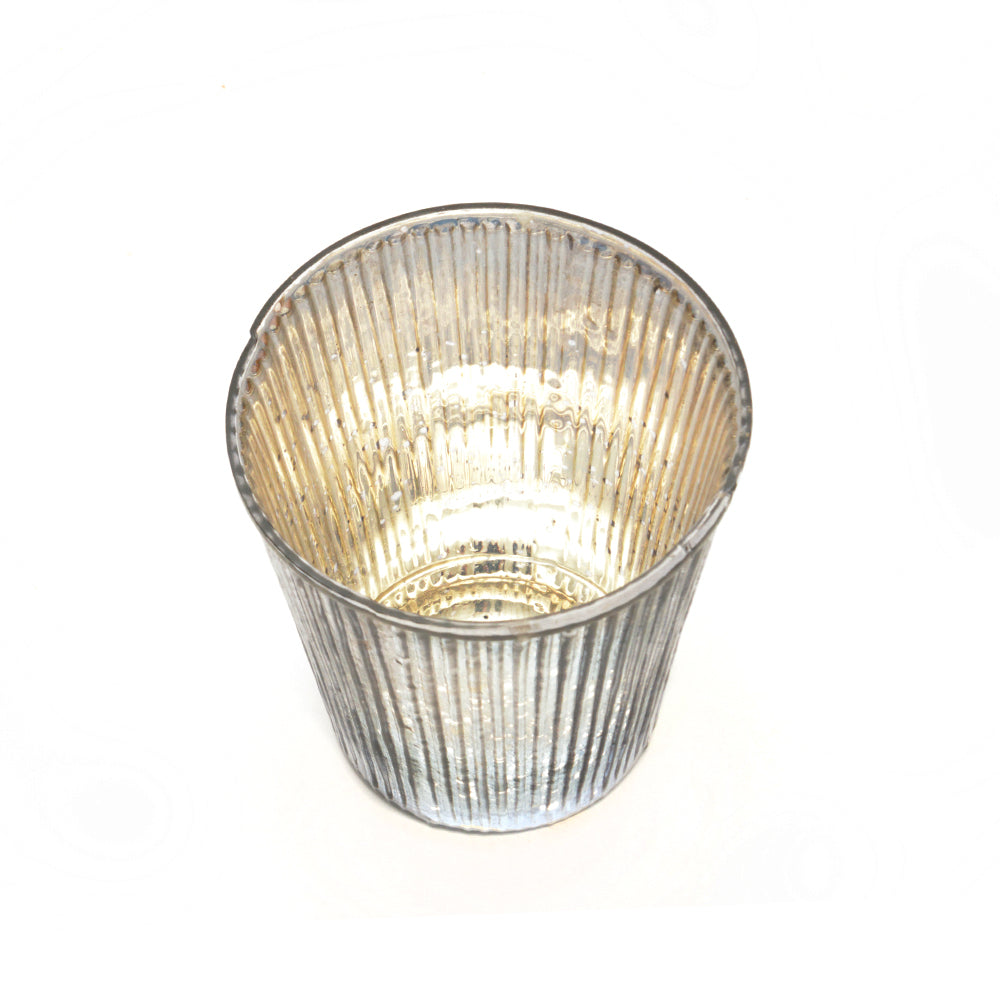 Fluted Votive Candle Lantern - Antique Pewter - Chinese homewares- Rouge Shop antique stores London - city furniture
