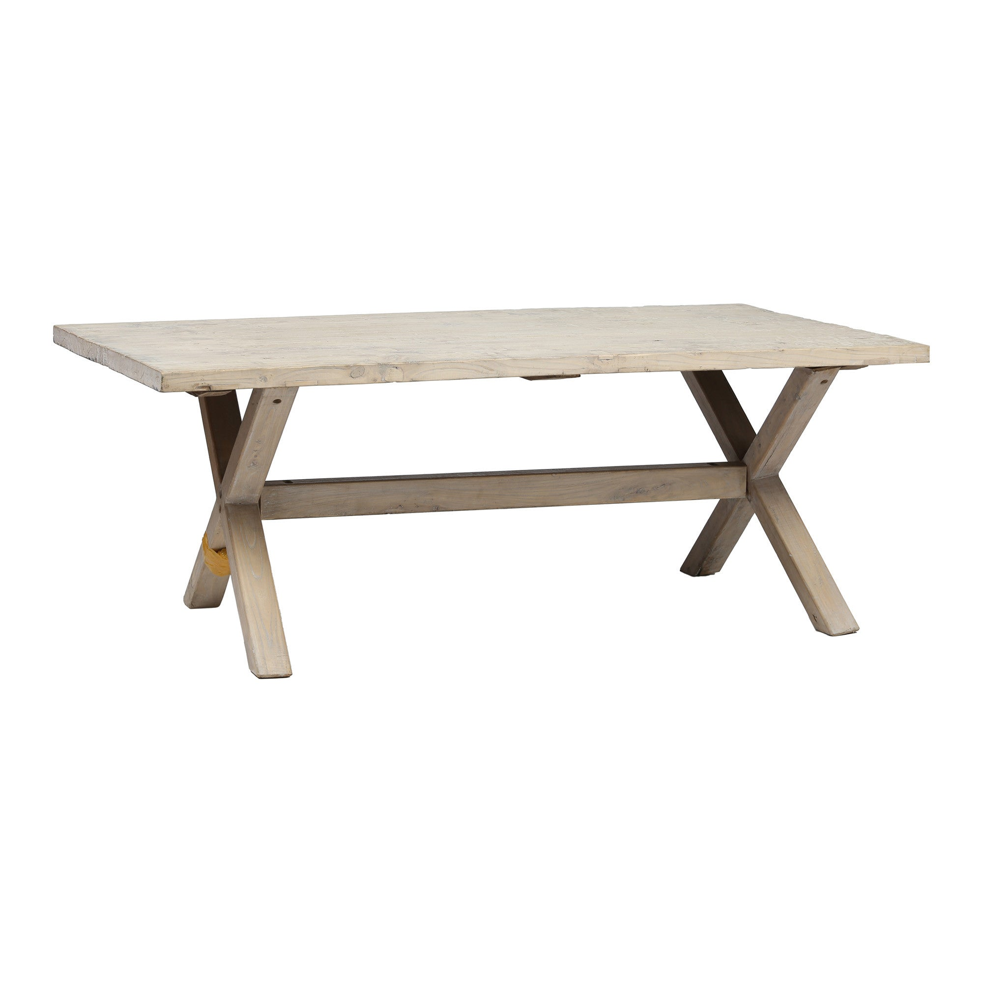 Contemporary Rustic Chinese Dining Table side view