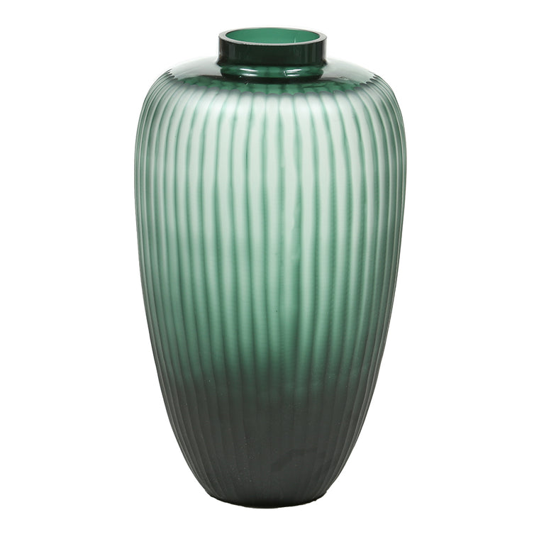 Green Scalloped Glass Vase – Large - Chinese homewares- Rouge Shop antique stores London - city furniture