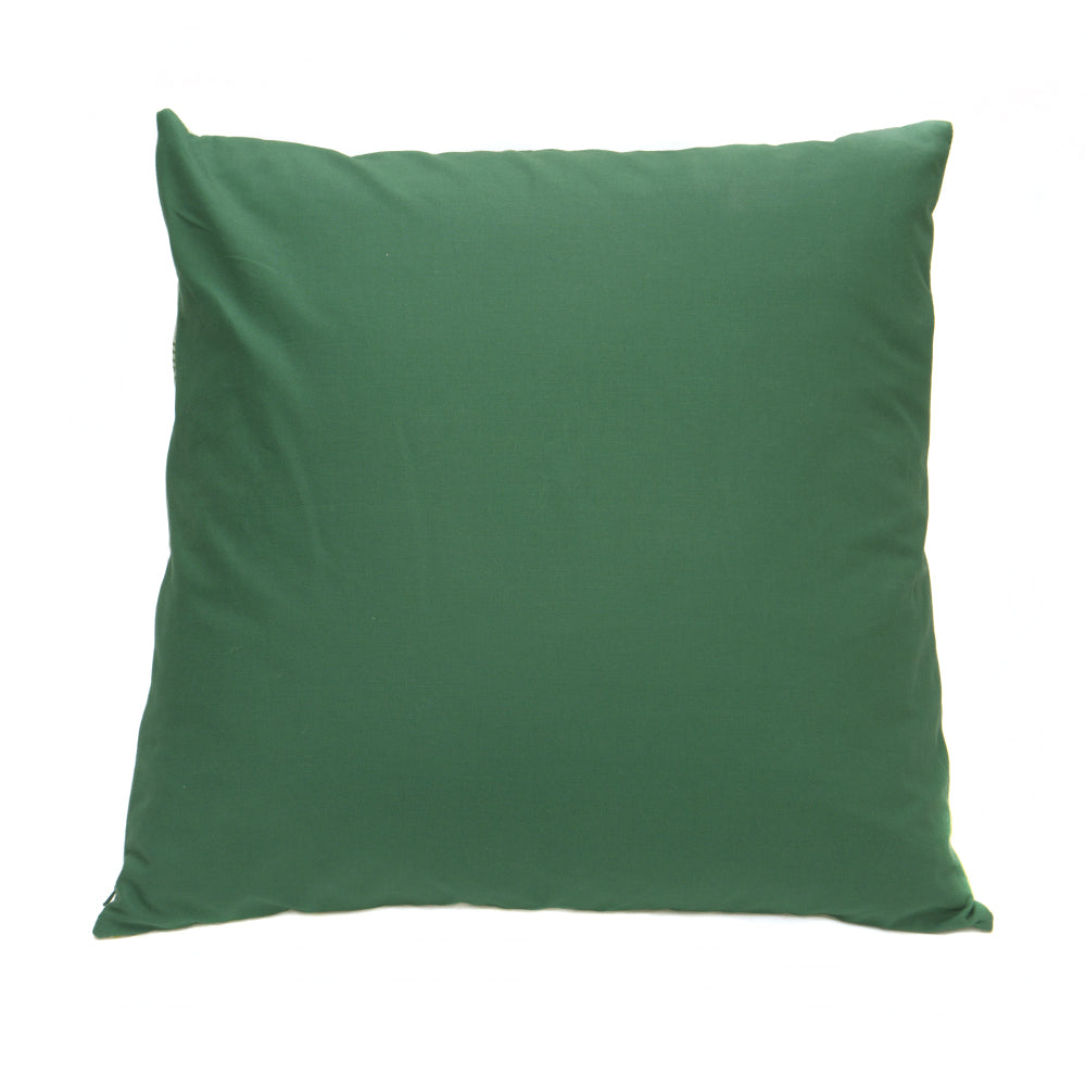 Green and White Hex Pattern Cotton Cushion 50x50cm - Chinese homewares- Rouge Shop antique stores London - city furniture