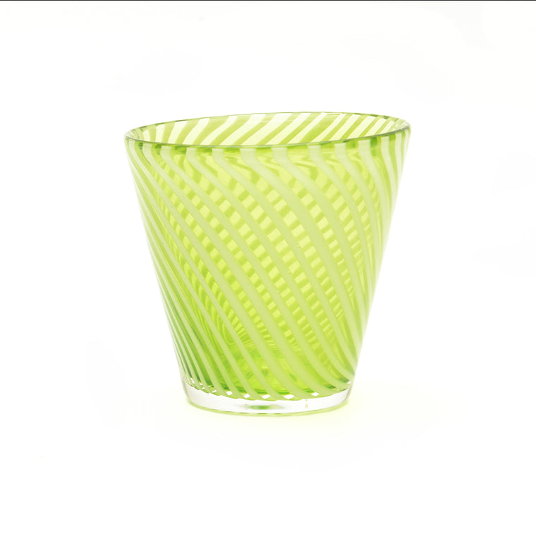 Green and White Twist Glass - Chinese homewares- Rouge Shop antique stores London - city furniture