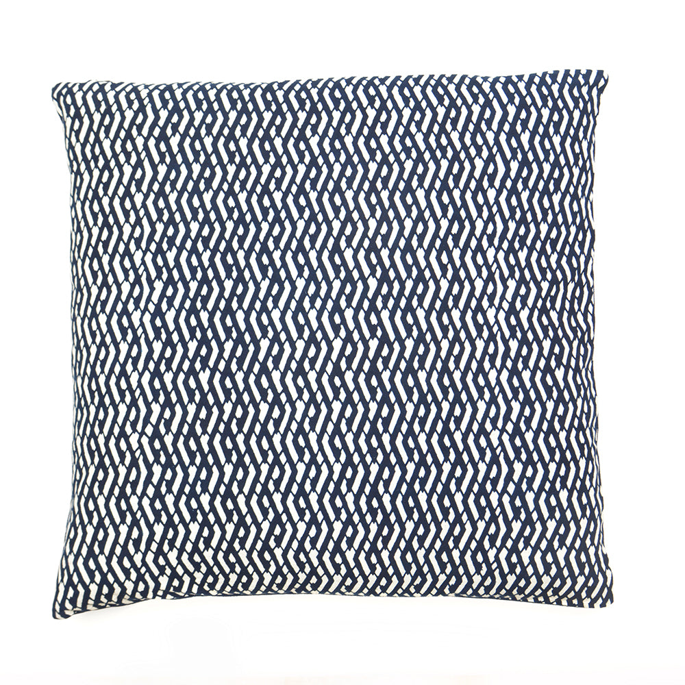 Geometric Pattern Handmade Indigo Cushion - 50 x 50cm - Chinese homewares- Rouge Shop antique stores London - city furniture