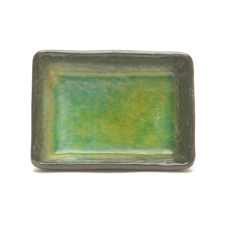 Hiwa Green Crackle Glass Glaze Dish – Small Rectangular - Chinese homewares- Rouge Shop antique stores London - city furniture