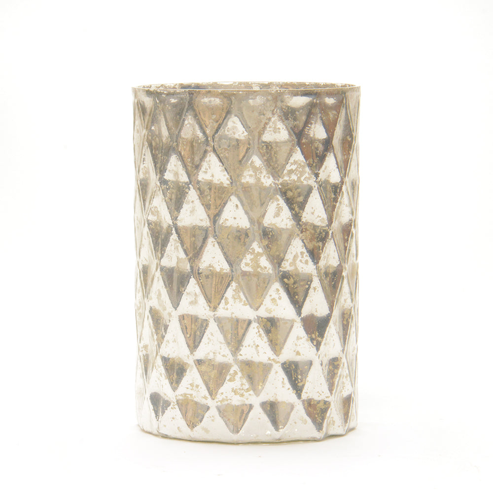 Diamond Candle Hurricane Lantern - Antique Silver - Chinese homewares- Rouge Shop antique stores London - city furniture