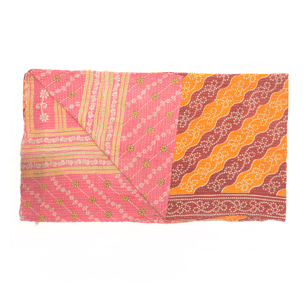 Vintage Cotton Kantha Stitch Throw - Red and Orange - Chinese homewares- Rouge Shop antique stores London - city furniture