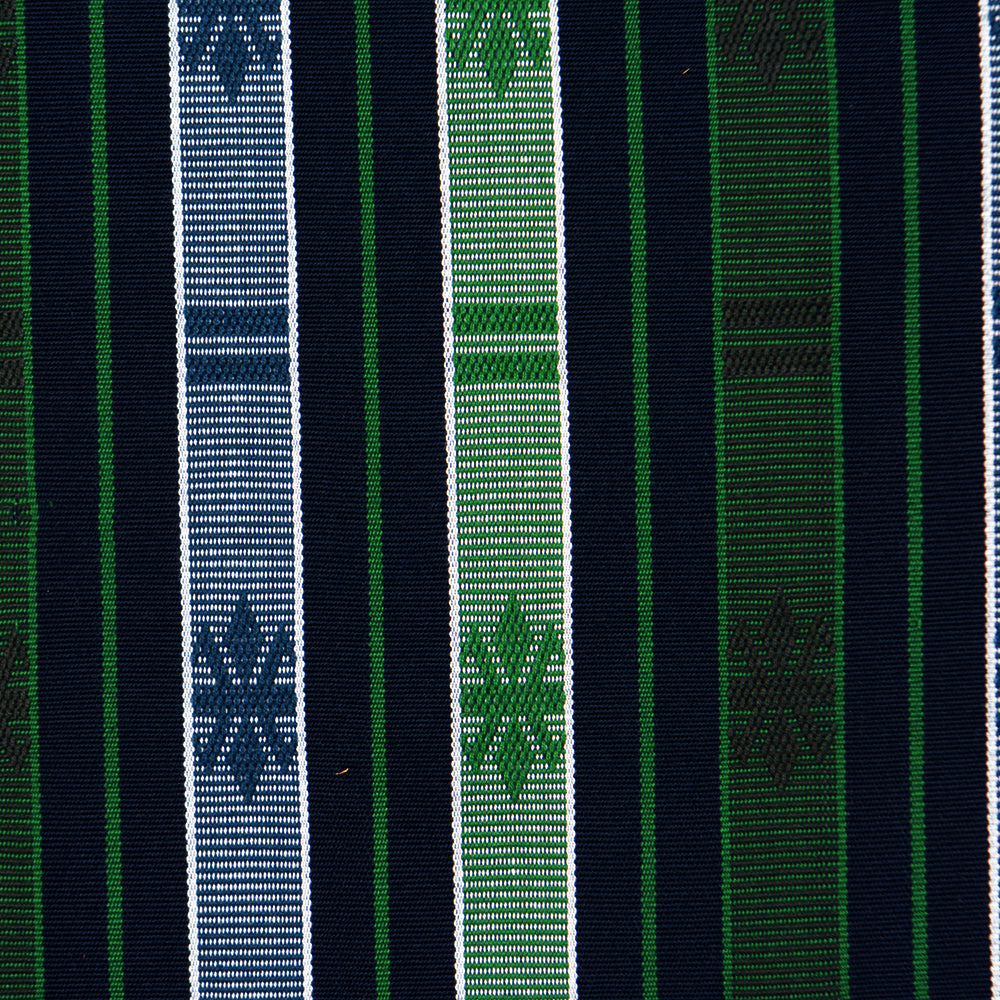 Hand Woven Ifugao Pattern Cushion - Green and Blue Stripes 50 x 50cm - Chinese homewares- Rouge Shop antique stores London - city furniture
