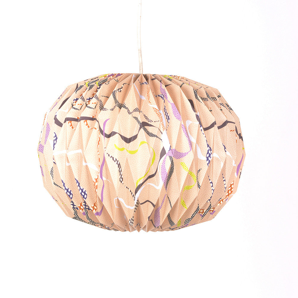 Origami Paper Pendant Lampshade in Japan Pink - Chinese homewares- Rouge Shop antique stores London - city furniture