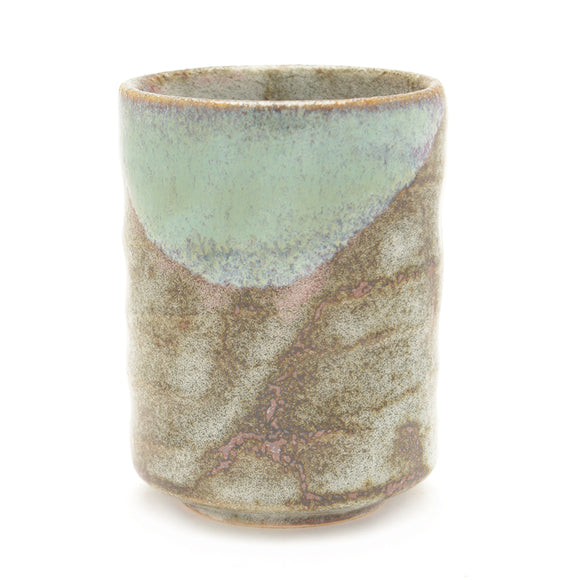 Japanese Teacup - Brown Grey and Green