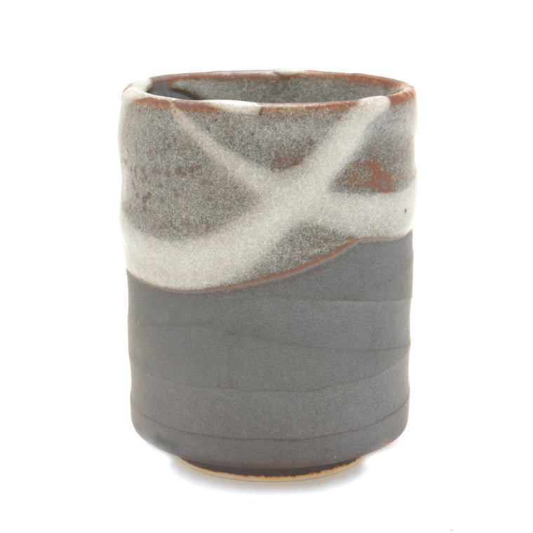 Japanese Teacup - Brown and Grey