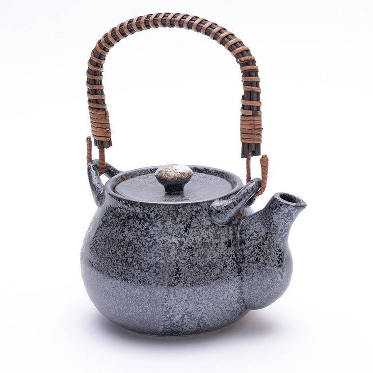 Japanese Black Kosui Glaze Teapot - Chinese homewares- Rouge Shop antique stores London - city furniture