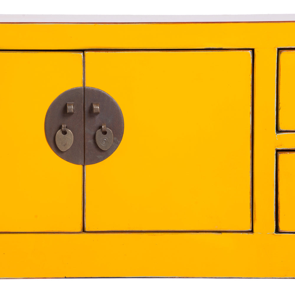 Yellow Chinese Console Table