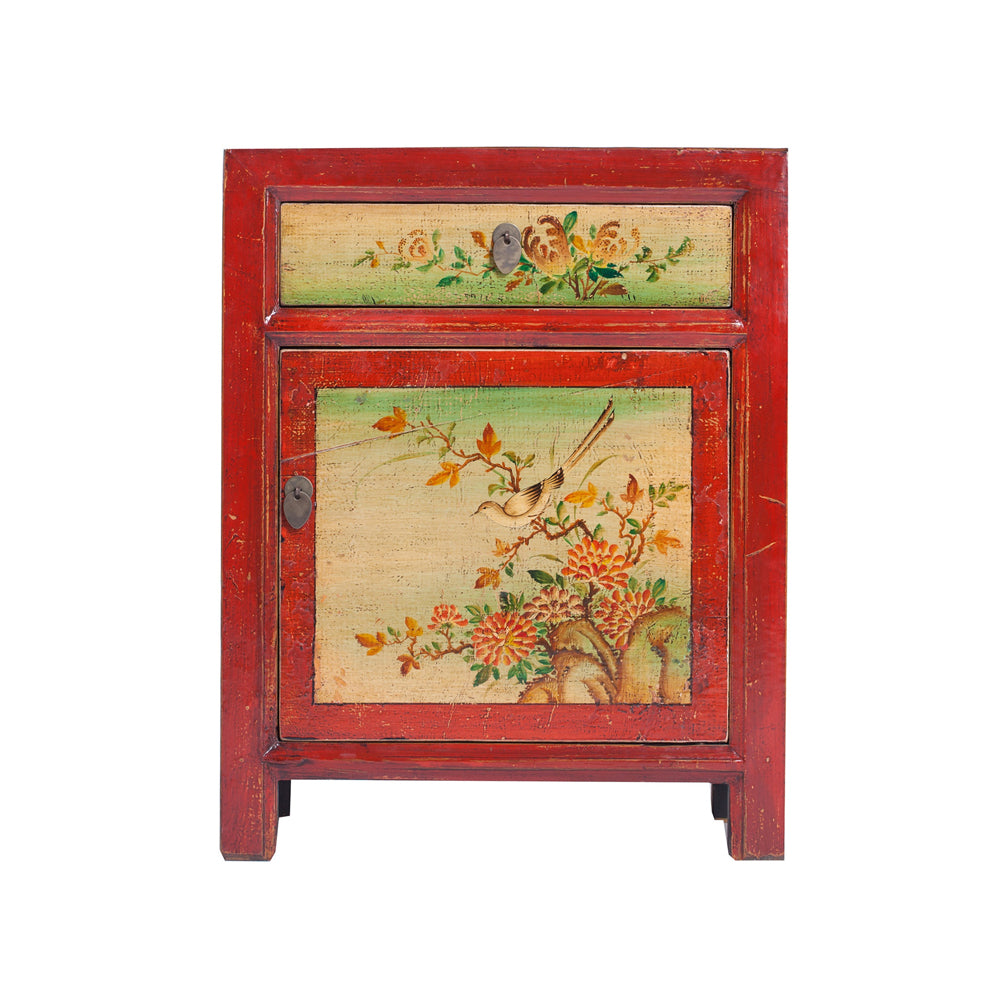 furniture motifs. Chinese Painted Bedside Cabinet With Bird And Flora Motifs -  Homewares- Rouge Shop Antique Furniture Motifs B
