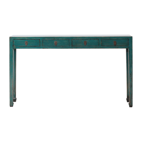 Contemporary Green Chinese Console Table