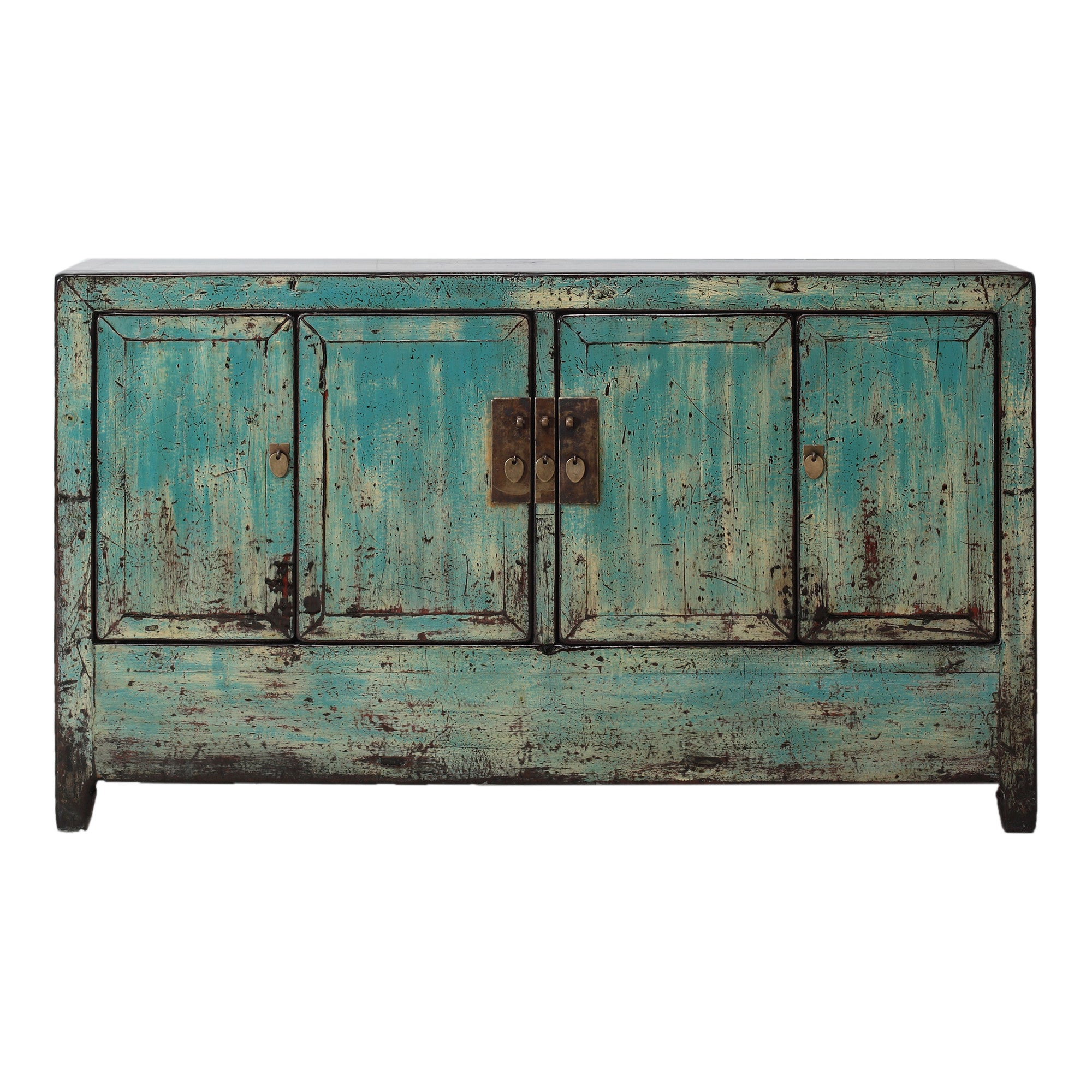 Blue Vintage Sideboard from Dongbei
