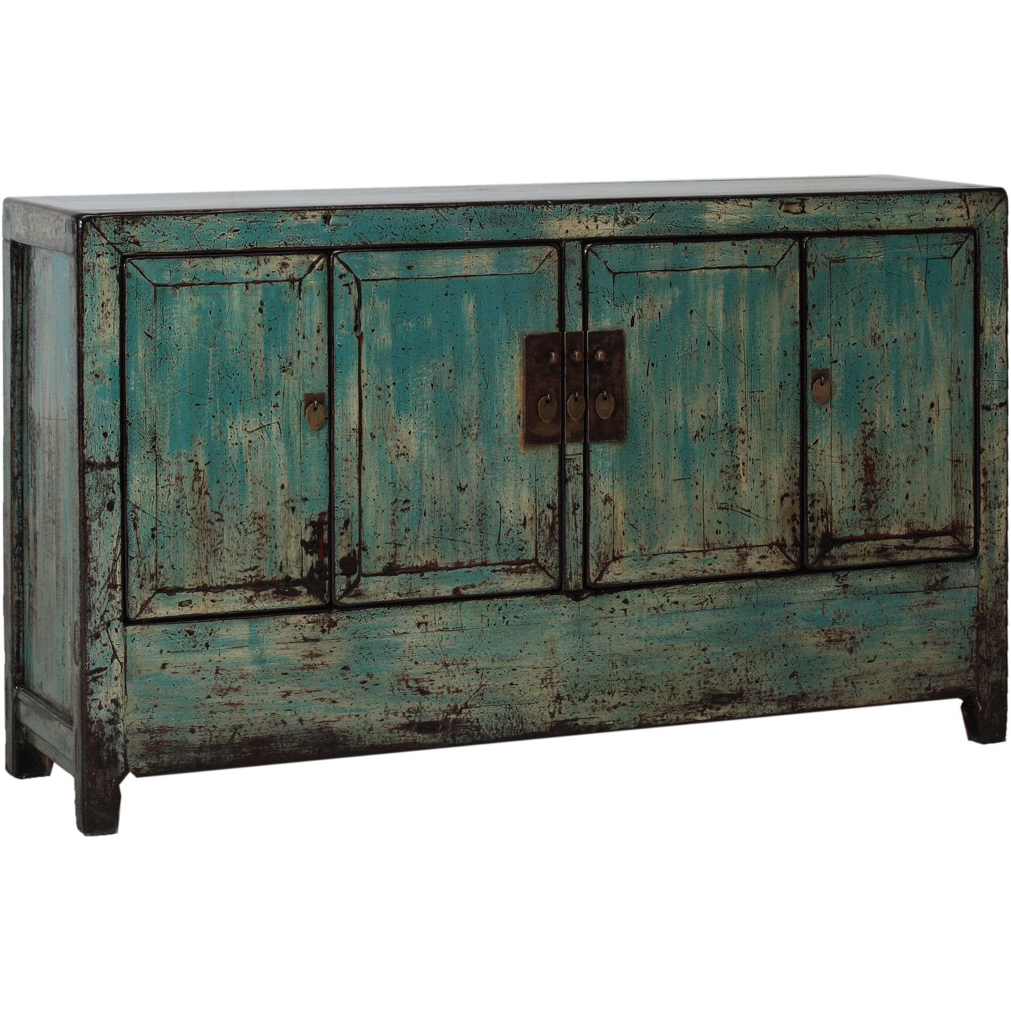 Blue Vintage Sideboard from Dongbei side view