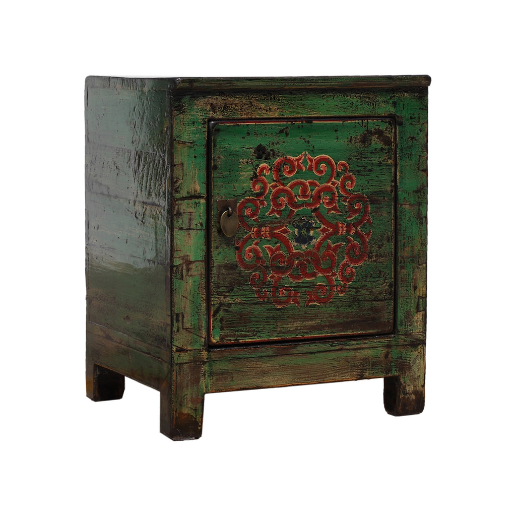 Green Chinese Small Cabinet - Endless knot