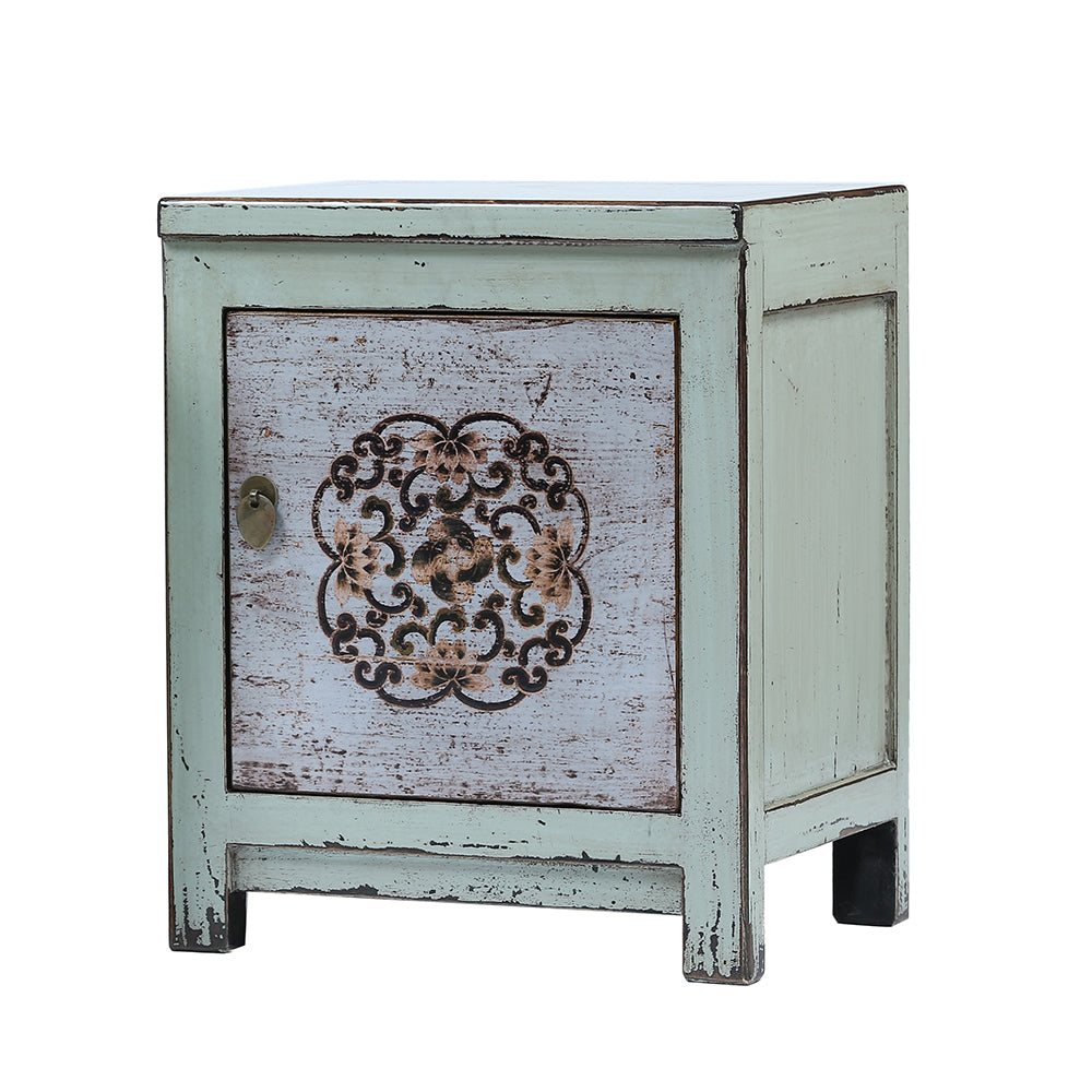 Chinese Bedside Cabinet Dongbei Style light blue - Chinese homewares- Rouge Shop antique stores London - city furniture